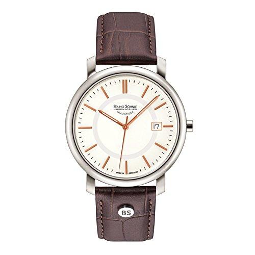 Bruno Söhnle Herren Analog Quarz Uhr mit Leder Armband 17-13142-245