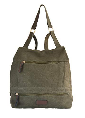 Bolso mochila antirrobo casual multifuncional mujer (Caqui)