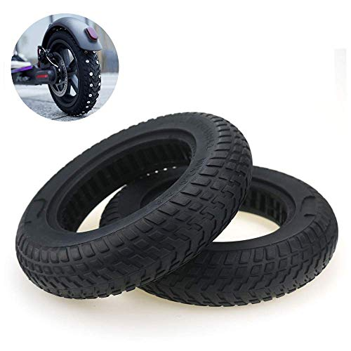 SLRMKK Electric Scooter Tires, 10-inch Hollow Solid Tires, 10X2 2.125 2.25 2.5 Non-Slip Shock-Absorbing Outer Tires, Without Inner Tube, Free of Inflation and Thick Wear-Resistant,2pcs