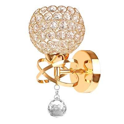 ZHNINGUR Soporte de Pared de la lámpara LED de Cristal Pendiente de la Escalera de luz E14 Socket (n Bombilla incluida) la decoración del hogar Iluminación (Color : Golden, Size : Gratis)