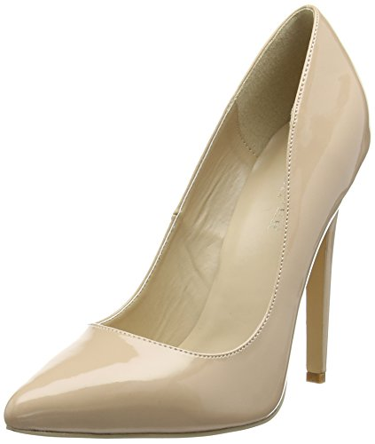 Pleaser Devious SEXY-20 Damen Pumps, Beige (Nude Pat), 35 EU (2 DDamen UK)