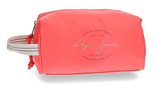 Pepe Jeans Yoga Neceser de Viaje, 19 cm, 2.19 litros, Rojo