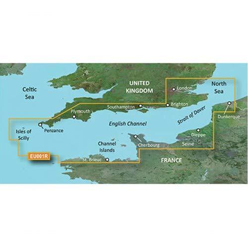 Garmin BlueChart g3 Seekarte Region Europa, Abdeckungsbereich HXEU001R - Ärmelkanal, Kartengröße Regular