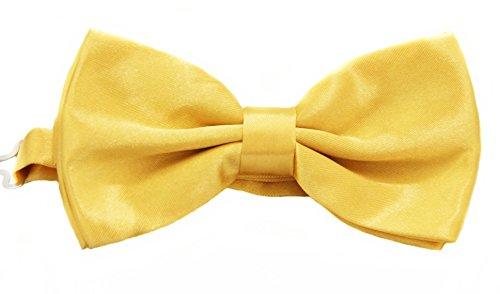 Soophen Pre Tied Mens Adjustable Bow Tie Lemon Yellow