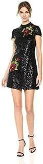 فستان سهرة بتصميم تي شيرت كاجول للنساء من بيبي مزين بالترتر بالكامل ومزخرف بزهور