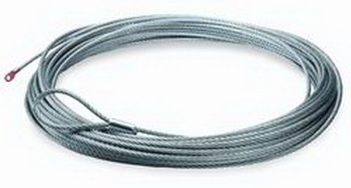 """""""WARN 60076 ATV Winch Accessory: Galvanized Aircraft Steel Cable Wire Rope, 3/16"""""""" Diameter x 50' Length"""", multi"""