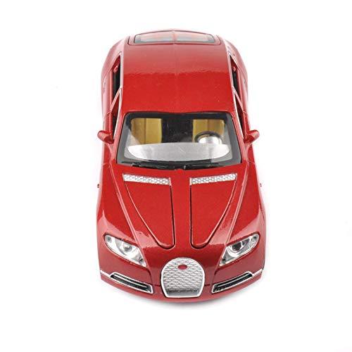 BWHM Modelo De Coche Famoso 1/32 para Bugatti Veyron 16C Galibier Diecast Metal Modelo Coches Aleación Coche Electrónico Juguetes (Color : Red)