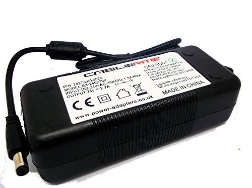Replacement 24V 2A AC-DC Adaptor for Dewalt DWST1-81079-GB Jobsite Radio