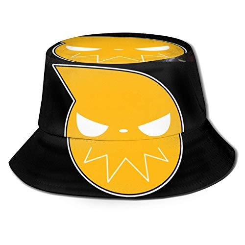 Soul Eater Buet Sombrero de pescador Unisex Impreso de doble cara Buet Sombreros de verano de moda protector solar Folle Visor Deporte al aire libre