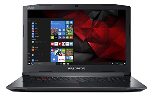 "Acer Predator Helios 300 PH317-51-78GN Notebook Gaming con Processore Intel Core i7-7700HQ, Display 17.3"" IPS FHD, RAM 16 GB DDR4, 256 GB SSD, 1 TB HDD, NVIDIA GeForce GTX 1050Ti, Windows 10 Home,Nero"