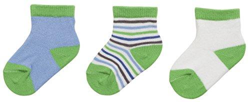 Playshoes Erstlingssocken, 3er Pack, 0-3 Monate, Chaussettes Mixte bébé, Vert (Original), Taille unique (Taille fabricant: 0-3M)