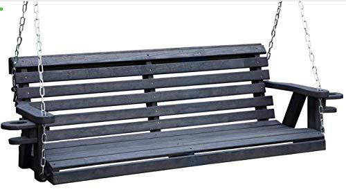 Amish Heavy Duty 800 Lb Roll Back 5ft Porch Swing...