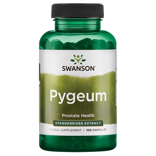 Swanson Pygeum - Herbal Supplement Promoting Male Prostate Health, Bladder, and Urinary Tract Health Support - Mens Health Supplement - (100 Capsules, 125mg Each)