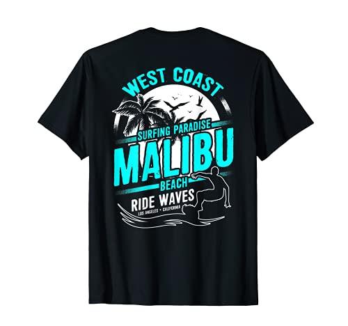 Malibu Beach California West Coast Surf Surfers Regalo Camiseta