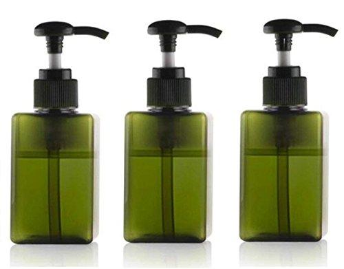3 PCS 100 ml bouteilles de pompe en plastique vides avec pompe Top Shampooing Douche Savon Gel Bocaux Récipients de Stockage Distributeurs