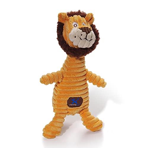Charming Pet Squeakin' Squiggles Lion Plush Dog Toy