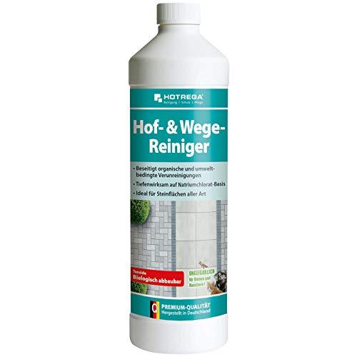 HOTREGA Hof- & Wege-Reiniger Konzentrat 1 Liter, Steinreiniger, Terrassenreiniger, Plattenreiniger