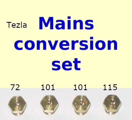 Set a getto di gas naturale – Kit di conversione ugello iniettore 4 fuochi