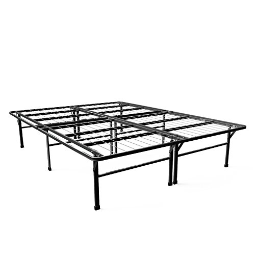 Zinus Gene 16 Inch SmartBase Deluxe Mattress Foundation / 2 Extra Inches high for Under-bed Storage / Platform Bed Frame / Box Spring Replacement / Strong, Sturdy / Quiet Noise-Free, Queen