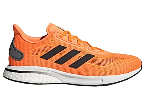 adidas Men's Supernova Running Shoe, Signal Orange/Black/Grey, 8.5