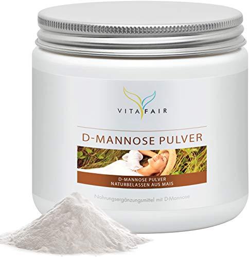 D-Mannose Pulver - 1g pro Tagesdosis - 200 Gramm - Aus naturbelassenem Mais - Hochdosiert & GMO-Frei - Vegan - Ohne Magnesiumstearat - Made in Germany