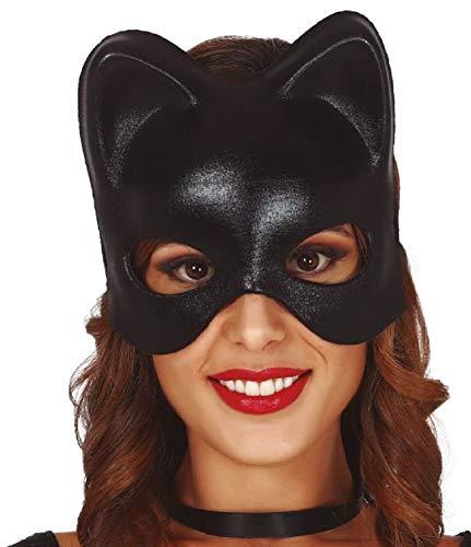 Guirca Fiestas Katzenmaske Halbmaske für Damen Polyester Halloween Karneval Party Kostüm