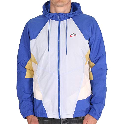 Nike NSW Heritage Windrunner Jacket Woven Signature Hydrogen Blue Game M