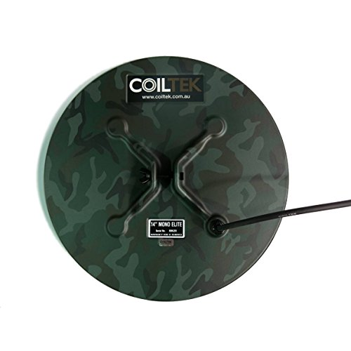 Lowest Price! Coiltek 14 Mono Elite Camo Search Coil for Minelab SD / GP and GPX Metal Detector