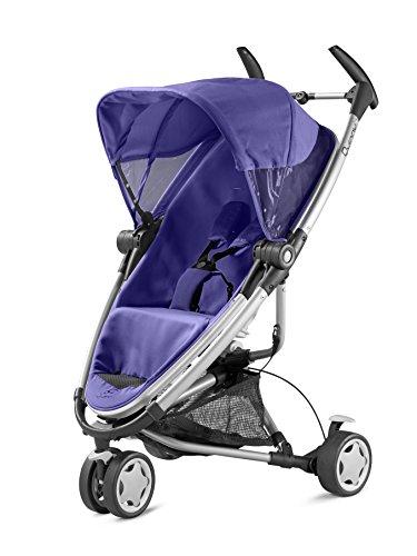 Quinny 72906760 Zapp Xtra - Silla de paseo con posición de reposo, cesto de la compra, capota, protector para la lluvia, pinza para sombrilla y adaptador para capazo morado morado (purple pace)