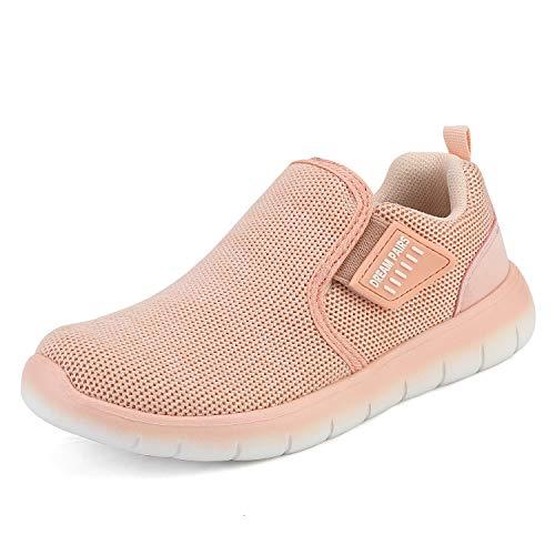 DREAM PAIRS Jungen Mädchen Mesh Atmungsaktive Laufschuhe Turnschuhe Unisex-Kinder Outdoor Sneaker Koralle Größe 2 US Little Kid / 33 EU Luca