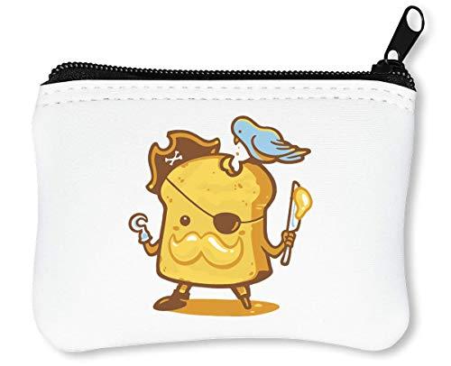 Funny Toast - The Pirate Reißverschluss-Geldbörse Brieftasche Geldbörse