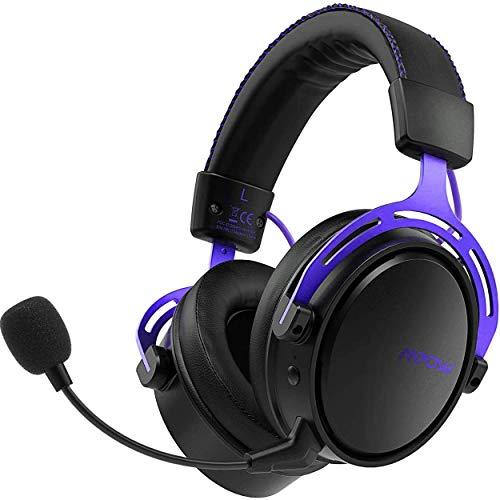 Mpow Air 2.4G - Auriculares inalámbricos para Videojuegos PS4 y PC, con Controlador de Doble cámara, 17 Horas de Uso inalámbrico, micrófono Desmontable con cancelación de Ruido