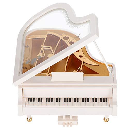 Alinory Uhrwerk Spieluhr, tragbare leichte Klavier Spieluhr, für Kinder Geschenke Valentinstag Jubiläen Home Decoration