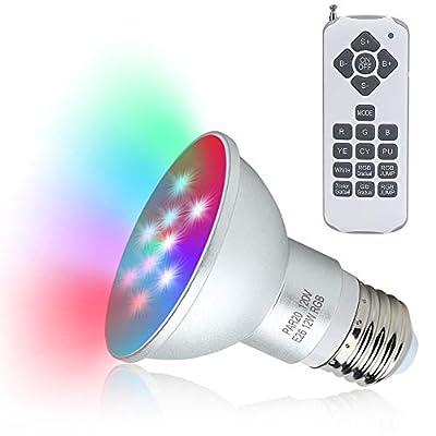 COOLWEST LED Spa Light Bulb, 120V RGB Color Remote Control Spa Light 12W LED Hot Tub Swiming Spa Pool Bulb Replacement Bulb E26 Base