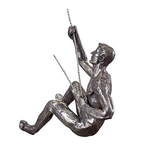 Accesorios Para El Hogar Estatua De Resina Hombre De Escalada Único Arte De La Pared Decoración Del Hogar Escultura Artesanía Adornos Sala De Estar Mueble De Televisión Gabinete De Vino Porche Escult