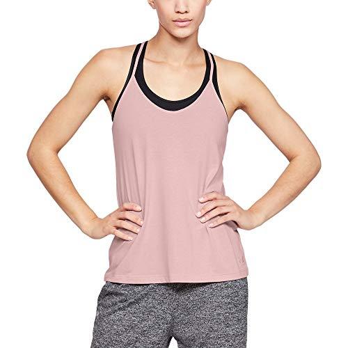 Preisvergleich Produktbild Under Armour Damen Tank Solid Fashion,  Flushed Pink / Tonal (602),  LG