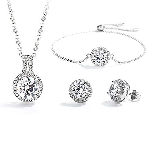 Bridal Wedding Jewelry Sets Neck...