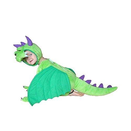 Ikumaal Drachen-Kostüm, SY20 Gr. 92-98, für Klein-Kinder, Babies, Drache Kind Drachen-Kostüme für Fasching Karnevals- Kleinkinder-Karnevals- Kinder-Faschings- Geburtstags- Weihnachts-Geschenk