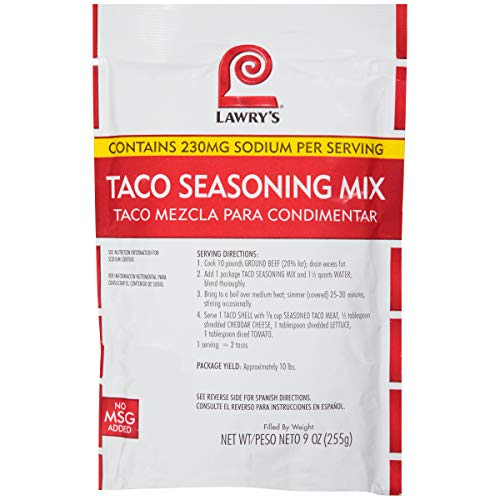 Lawry's Taco Seasoning Mix, 9 oz
