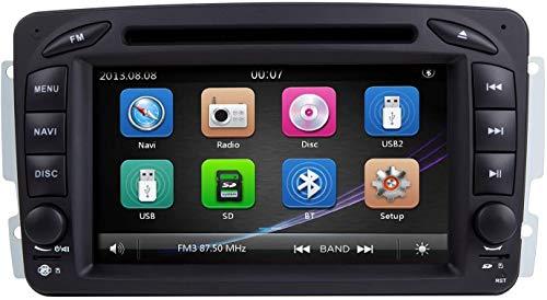 Windows CE 6.0 DOBLE DIN GPS Navegación DVD Reproductor de DVD 7 pulgadas Capacitiva Pantalla táctil SWC Coche Estéreo SAT NAVE CABEZA PARA MERCEDES BENZ RADIO DE RADIO DE VIDEO