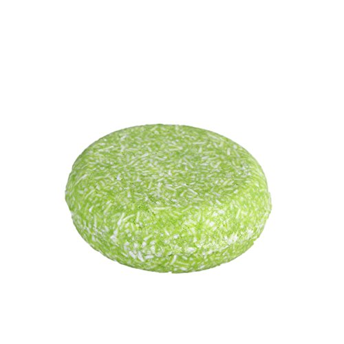 Frcolor Extracto de té verde Champú Sólido Jabón Natural Artesanal para Pelo Barra de Champú Crecimiento del Cabello para Perdida de Cabello 55g