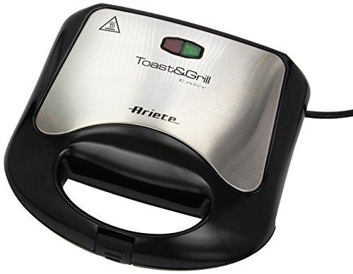 Ariete Toast & Grill Maxi Appareil à croque-monsieur compact Compacte Noir Inox