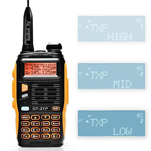 Baofeng GT-3TP Mark III Walkie Talkie VHF/UHF Ricetrasmittente Walkie Talkie professionale (GT-3TP)