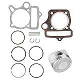 Kit de anillos de pistón - 125cc 54mm Piezas del motor Juego de pistones Anillos Juntas Aptos for ATV Go Kart Bike