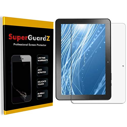 """[2-Pack] for Insignia 10"""" / 10.1"""" Flex (NS-P10A7100) Screen Protector - SuperGuardZ, Ultra Clear, Anti-Scratch, Anti-Bubble [Lifetime Replacement] + 2 Stylus Pen"""