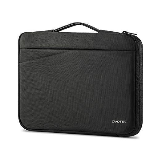 "Civoten 14 Inch Laptop Case 360 Protective Portable Laptop Sleeve for Lenovo ThinkPad X1 Yoga Ideapad, HP EliteBook x360,Dell Latitude Notebook 14"" Asus Acer MSI Chromebook Bag, Black"