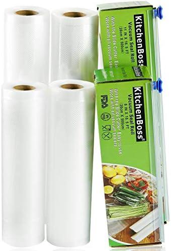 KitchenBoss Sac pour aliments sous vide 4 Rollen 20x500cm und 28x500cm