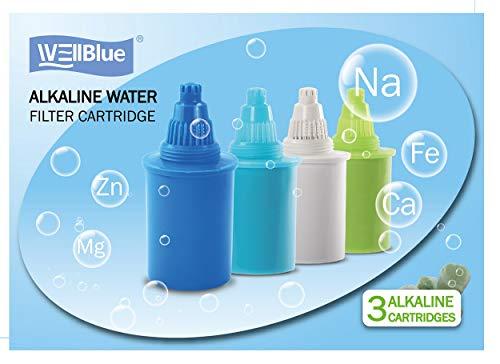 well blue alkaline water pitcher - 3