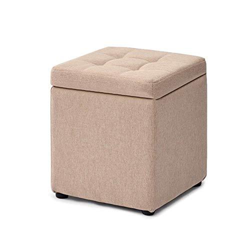 THBEIBEI Schoenenbank, voetenbankje, schoenenbank, opbergbak, Cube Pouffe, stoel-zitje, ottoman met deksel en afneembare afdekking, kussens voor de woonkamer, hal 30 x 30 x 35 cm