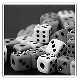 Impresionantes pegatinas cuadradas (juego de 2) 10 cm BW – Colorido juego de dados Divertidos calcomanías para portátiles, tabletas, equipaje, reserva de chatarras, neveras, regalo fresco #41639